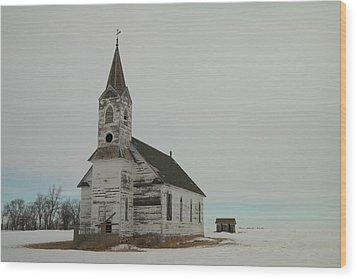 Amazing Grace In North Dakota Wood Print by Jeff Swan