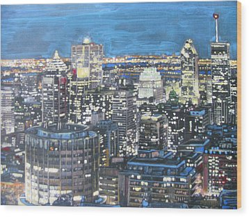 Amazing Montreal Wood Print by Vikram Singh