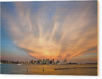 Amazing San Diego Sky Wood Print by Peter Tellone