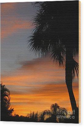 Amazing Sunrise In Florida Wood Print