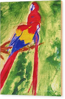 Amazon Jungle Birds Wood Print