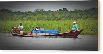 Wood Print featuring the photograph Amazon Travel by Henry Kowalski