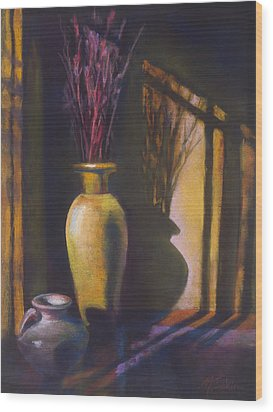 Amber Afternoon Wood Print