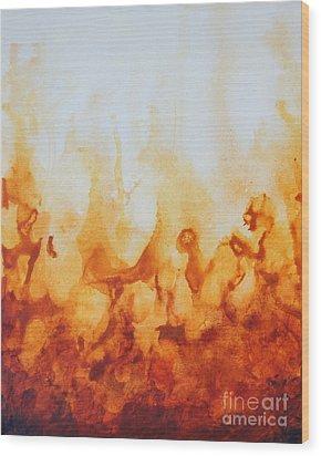 Amber Flame Wood Print