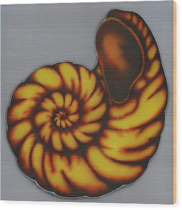 Wood Print featuring the painting Amber. by Kenneth Clarke