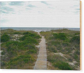 Amelia Island Beach Wood Print