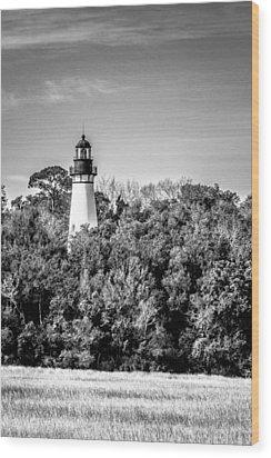 Amelia Island Lighthouse Wood Print by Wade Brooks