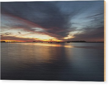 Wood Print featuring the photograph Amelia Island Sunset by Wade Brooks