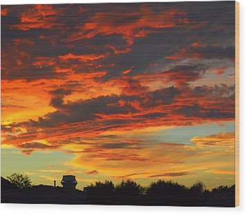 Amelia Sunsets 23 Wood Print
