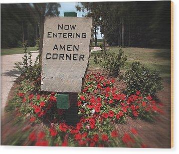 Amen Corner - A Golfers Dream Wood Print