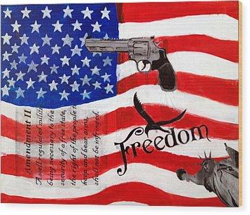 Amendment II Wood Print by Made by Marley