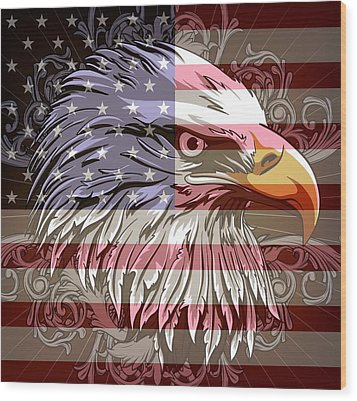 America The Beautiful Wood Print by Stanley Mathis