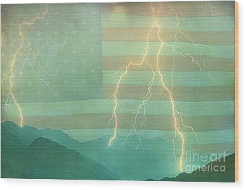 America Walk The Line  Wood Print by James BO  Insogna