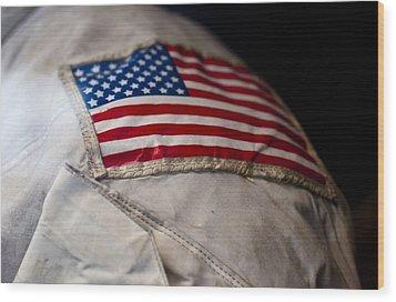 American Astronaut Wood Print by Christi Kraft