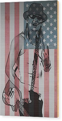 American Badass Wood Print by Dan Sproul