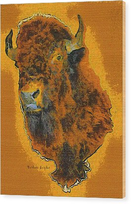 American Buffalo Wood Print by Barbara Snyder