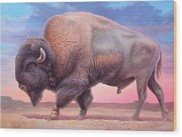 American Buffalo Wood Print by Hans Droog