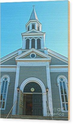 American Church Wood Print by Sebastian Mathews Szewczyk