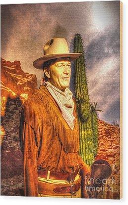 American Cinema Icons - The Duke Wood Print by Dan Stone