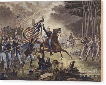 American Civil War General   Philip Kearny Wood Print by American School