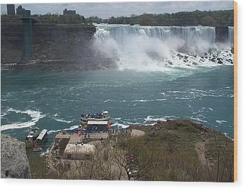 Wood Print featuring the photograph American Falls From Above The Maid by Barbara McDevitt