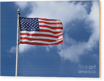 American Flag Wood Print by Amy Cicconi