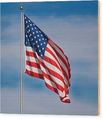 American Flag Wood Print by Benjamin Reed