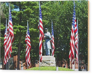 American Flag - Civil War Memorial -  Luther Fine Art Wood Print by Luther Fine Art