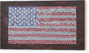 American Flag Wood Print by Kay Galloway