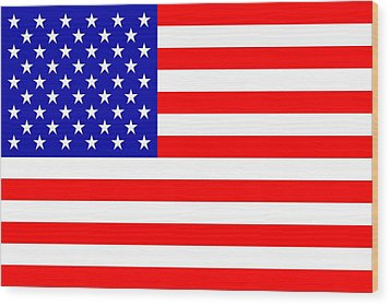 American Flag Wood Print by Tommytechno Sweden