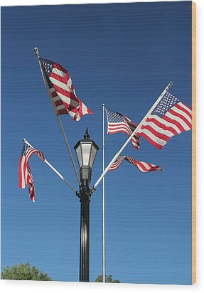 American Glory Wood Print by James Hammen