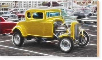 American Grafitti Coupe Wood Print by Steve McKinzie