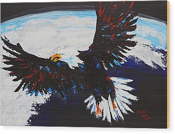 American Guardian Wood Print by Patricia Olson