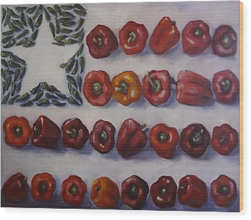 American Heat Wood Print by Kelley Smith