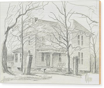 American Home II Wood Print by Kip DeVore