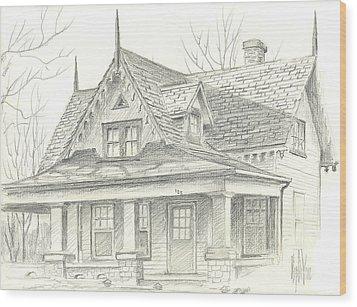 American Home Wood Print by Kip DeVore