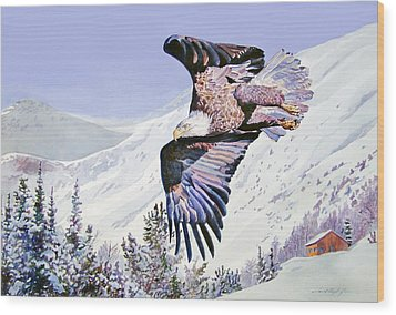 American Majesty  Wood Print by David Lloyd Glover