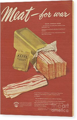 American Meat Institute 1950s Usa Bacon Wood Print by The Advertising Archives
