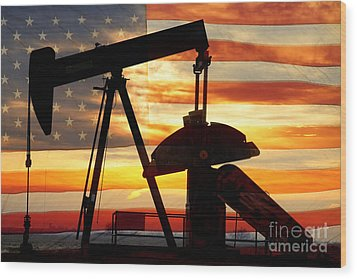 American Oil  Wood Print by James BO  Insogna