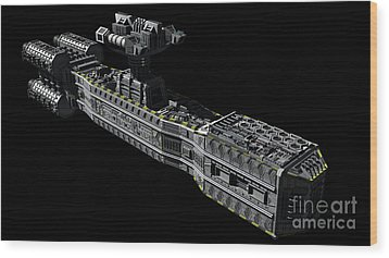 American Orbital Weapons Platform Wood Print by Rhys Taylor