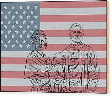 American Patriots Wood Print by Dan Sproul