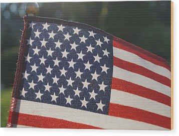 American Pride Wood Print by Andrea Rea