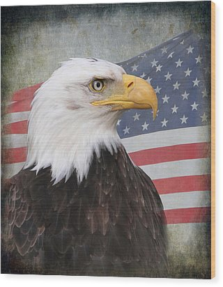 American Pride Wood Print by Angie Vogel