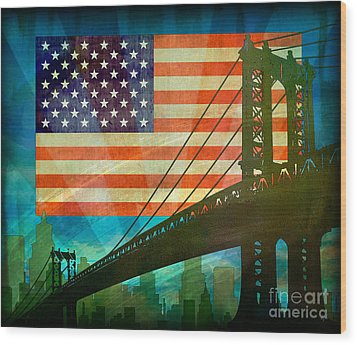 American Pride Wood Print by Bedros Awak