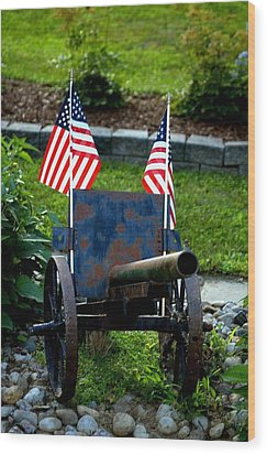 American Pride Wood Print by Timothy  Shea