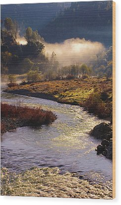 Wood Print featuring the photograph American River Confluence by Sherri Meyer