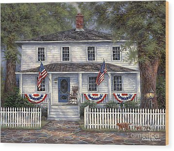 American Roots Wood Print by Chuck Pinson