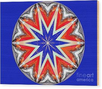 American Star Wood Print by Annette Allman