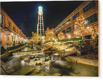 American Tobacco Campus Wood Print