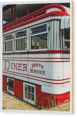 Americana Classic Dinner Booth Service Wood Print by Edward Fielding